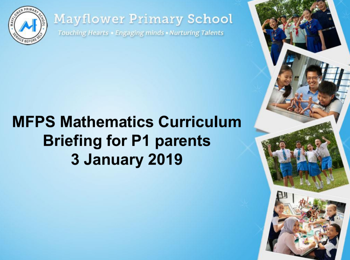 2019 Maths Curriculum Briefing for P1 Parents